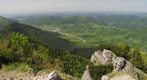 View from Maly Rozsutec mountain in Mala Fatra Royalty Free Stock Photos