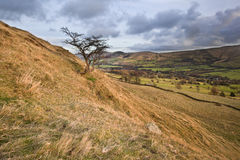 View of Mam Tor from lower heights of Kinder Scout Stock Photography