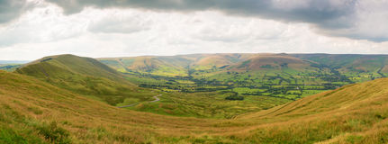 View from Mam Tor. Near Castleton in the Peak District National Park Derbyshire England, UK Stock Photo
