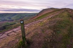 A view of Mam Tor in the Peak District early morning royalty free stock image