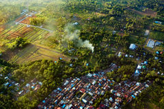 View of the Manado city from the plane Royalty Free Stock Image