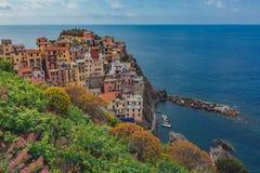 View of Manarola, Cinque Terre, Italy royalty free stock photography