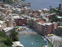 The view of Manarola, Cinque Terre, Italy Royalty Free Stock Photo