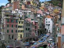The view of Manarola, Cinque Terre, Italy Stock Photography