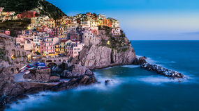View of Manarola. Fishing Village of Manarola Cinque Terre - Liguria Italy Stock Photography