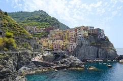 View of Manarola - Italy. View over the small fishing village of Manarola, one of the Cinque Terre in Liguria Royalty Free Stock Images