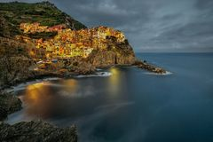 View of Manarola. Manarola is a small town Stock Images