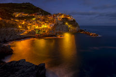 View of Manarola. Manarola is a small town in the province of La Spezia Royalty Free Stock Photography