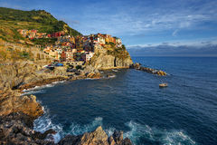 View of Manarola. Manarola is a small town in the province of La Spezia, Stock Photo