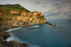 View of Manarola. Manarola is a small town in the province of La Spezia, Liguria, northern Italy. Stock Photography
