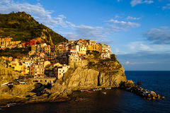 View of Manarola. Manarola is a small town in the province of La Spezia Stock Images