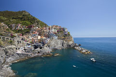 View of Manarola town Royalty Free Stock Photography