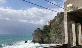 View from Manarola train station Royalty Free Stock Images
