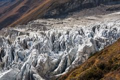 View at Manaslu glacier in Nepal.  royalty free stock photography