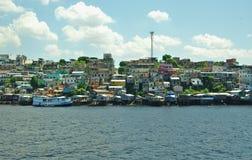 View of Manaus Favelas near the Amazon river Royalty Free Stock Photos