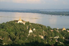 View from Mandalay Hill, Burma (Myanmar) Royalty Free Stock Image