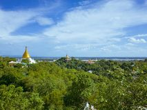 Mandalay Hill. View from the Mandalay Hill and Scenic of Stupa in Sutaungpyai Pagoda . Myanmar Burma Stock Photos