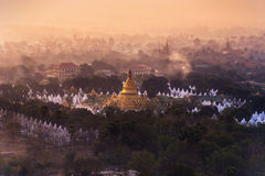 View from Mandalay Hill Stock Images