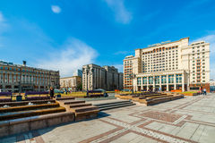 View of Manege square of Moscow Stock Photos