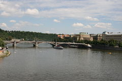 View of Manes Bridge  from Charles Bridge Stock Photos