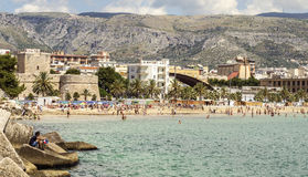 A view of Manfredonia beach.  Royalty Free Stock Photography