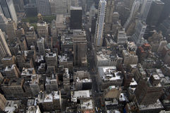 View of Manhattan. From Empire State Building Royalty Free Stock Images