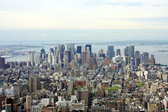 View of Manhattan. NYC from above Stock Images