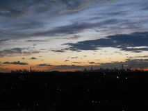 View of Manhattan from Arthur Ashe Stadium. Royalty Free Stock Image