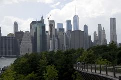 View of Manhattan from Brooklyn Heights Stock Images