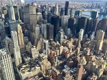 View of Manhattan buildings. Scenic view of part of Manhattan from the Empire State Building, New York, USA Stock Images