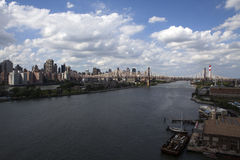 View at Manhattan and East River from Long Island City - NYC Stock Photography