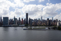 View at Manhattan and East River from Long Island City - NYC. View at Manhattan and East River from Long Island City - New York - United States of America stock images