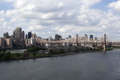 View at Manhattan and East River from Long Island City - NYC Royalty Free Stock Photos