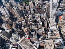 View of Manhattan from Empire State Building. Manhattan New York, photographed from the top of Empire State building Royalty Free Stock Photo