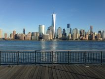 View of Manhattan from Exchange Place. Royalty Free Stock Photos