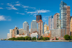 View on Manhattan from Hudson river Royalty Free Stock Photography