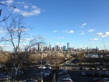 View of Manhattan from Jersey City, NJ. Stock Photos
