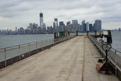 View on Manhattan from Liberty Island Stock Image