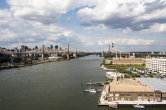 View at Manhattan from Long Island City in Summertime, New York City, United States of America Stock Photo