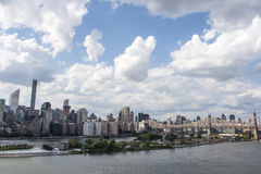 View at Manhattan from Long Island City in Summertime, New York City, United States of America. North America Stock Images
