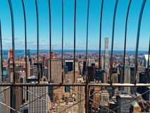 View Manhattan New York City from above. View of Manhattan New York City from above stock photo