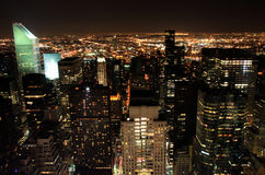 View of Manhattan at night. View of Manhattan NYC at night Royalty Free Stock Images