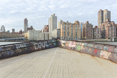 View of Manhattan from Roosevelt Island Royalty Free Stock Photography