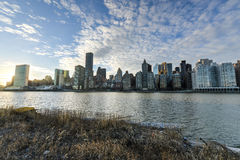 View of Manhattan from Roosevelt Island Royalty Free Stock Image