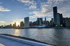 View of Manhattan from Roosevelt Island Stock Photos