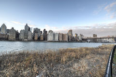 View of Manhattan from Roosevelt Island Stock Photography