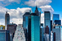 View of the Manhattan skyline from Brooklyn Heights, New York. Royalty Free Stock Photo
