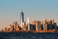 View of Manhattan skyline in NYC. Morning in New York. View of Manhattan skyline in NYC Royalty Free Stock Image