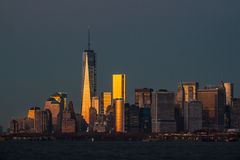 View of Manhattan skyline in NYC. Morning in New York. View of Manhattan skyline in NYC Stock Image