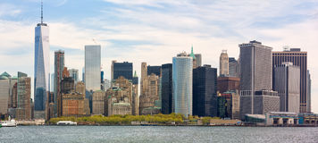 View of Manhattan skyline in NYC. Sunny day in New York. View of Manhattan skyline in NYC Royalty Free Stock Photography